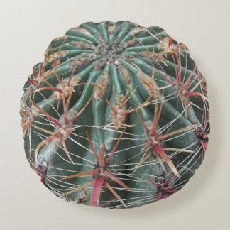 Barrel Cactus Southwest Cacti Desert Plants Round Pillow