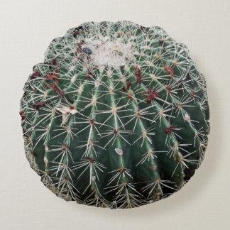 Barrel Cactus Southwest Design Desert Plants Round Pillow