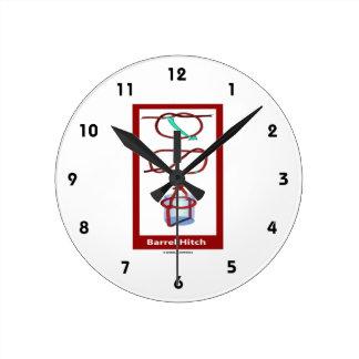 Barrel Hitch Barrel Sling (Knotology Tying Knots) Round Wall Clocks