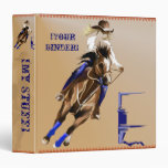 Barrel Horse binder_15_back.v4. 3 Ring Binder