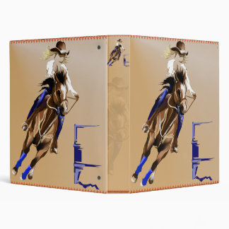 Barrel Horse binder_1_front.v4. 3 Ring Binders