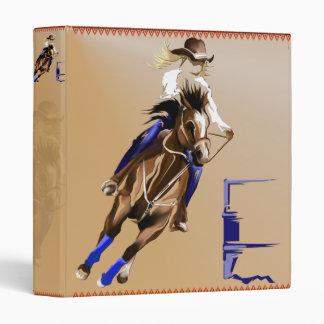 Barrel Horse binder_1_front.v4. Vinyl Binders