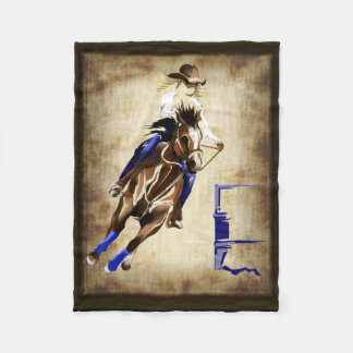 BARREL HORSE FLEECE BLANKET