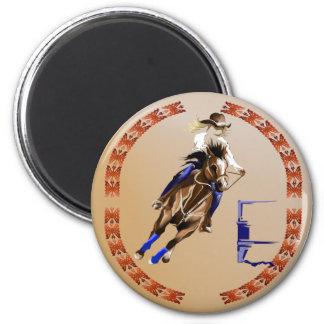 Barrel Horse-Magnet 2 Inch Round Magnet