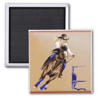 Barrel Horse_Magnet 2 Inch Square Magnet