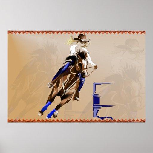 Barrel Horse Poster