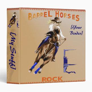 Barrel Horses Rock binder_15_back.v4. 3 Ring Binder