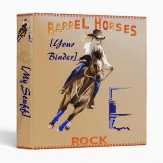 Barrel Horses Rock binder_1_front.v4. 3 Ring Binders