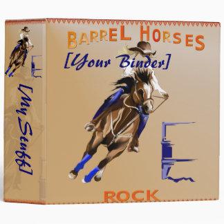 Barrel Horses Rock binder_2_back.v4. 3 Ring Binder
