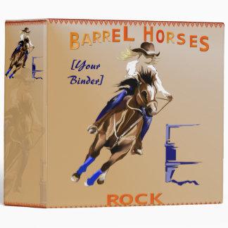 Barrel Horses Rock binder_2_back.v4. Vinyl Binders