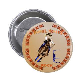 Barrel Horses Rock-Button Button