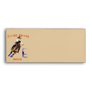 Barrel Horses Rock Envelope