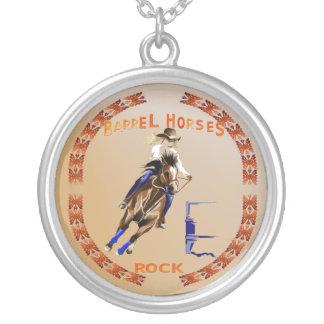 Barrel Horses Rock- Necklace