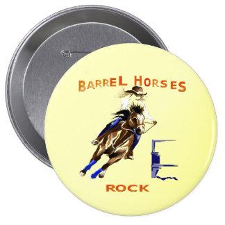 Barrel Horses Rock Pinback Button
