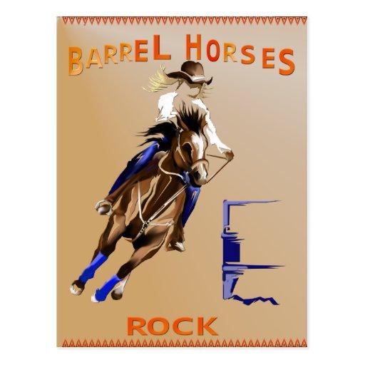 Barrel Horses Rock Poster Post Cards