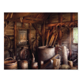 Barrel Maker - In the back of the barrel makers sh 4.25x5.5 Paper Invitation Card