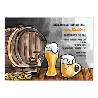 Barrel of Beer Invitation