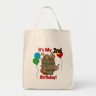 Barrel of Monkeys 2nd Birthday Tshirts and Gifts Tote Bag