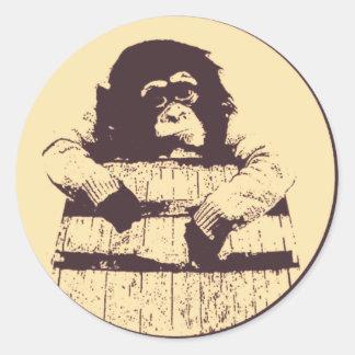 Barrel Of Monkeys Classic Round Sticker