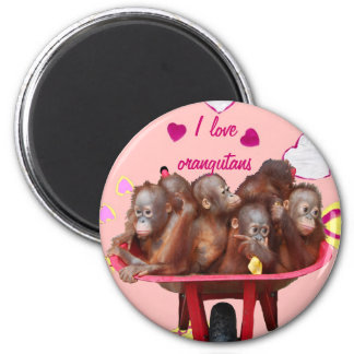Barrel of Monkeys Orangutan Babies Magnet