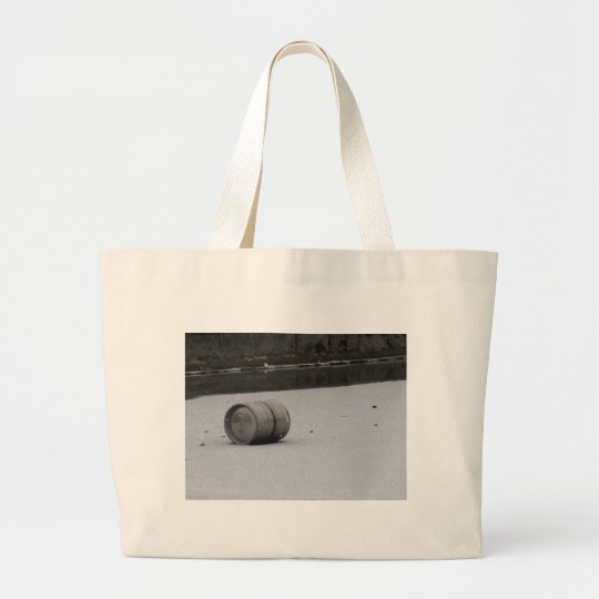 Barrel on ice large tote bag
