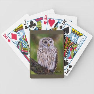 Barrel Owl print wild life by Camille Babusik Card Deck