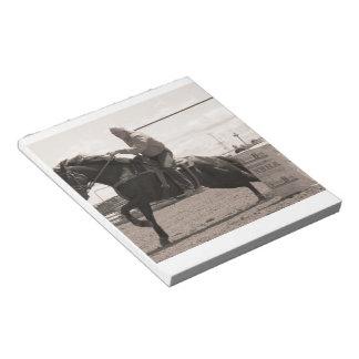 Barrel Race Sepia Memo Notepads