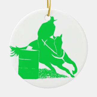 Barrel Racegreen Ceramic Ornament