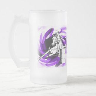 Barrel Racer 101 Frosted Glass Beer Mug