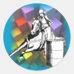 Barrel Racer 102 Classic Round Sticker