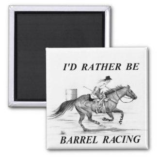 Barrel Racer 2 Inch Square Magnet
