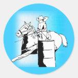 Barrel Racer 301 Round Stickers