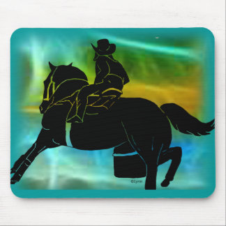 Barrel racer 404 mouse pad