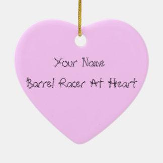 Barrel Racer At Heart Ceramic Ornament