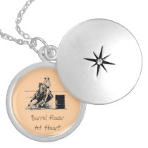 Barrel Racer At Heart Silver Plated Necklace