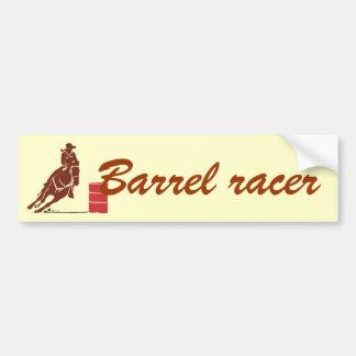 Barrel racer bumper sticker