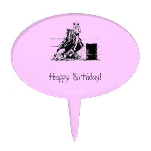 Barrel Racer & Cowgirl Cake Topper
