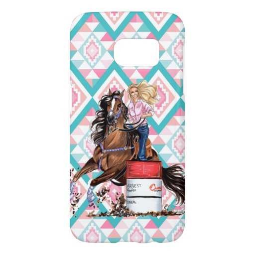 Barrel Racer Cowgirl Rodeo Tribal Samsung Case