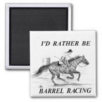 Barrel Racer Magnet