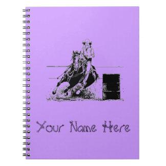 Barrel Racer Spiral Note Book