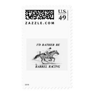 Barrel Racer Stamp