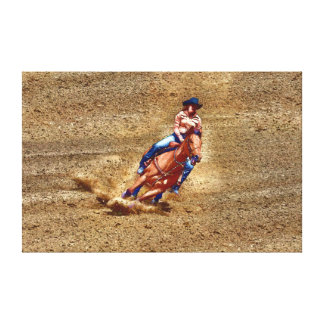Barrel-Racer Rodeo Cowgirl Western Fine Art Canvas