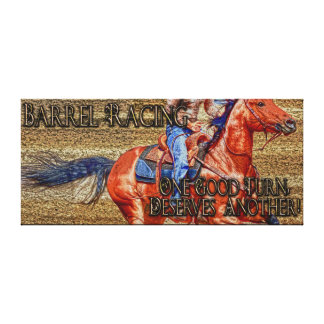 Barrel-Racer Rodeo Cowgirl Western Fine Art Print2 Canvas Print
