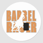 Barrel Racer Round Stickers