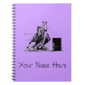 Barrel Racer Spiral Notebook