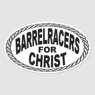Barrel Racers for Christ Euro Style Sticker