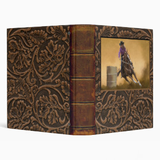 Barrel Racing 3 Ring Binder