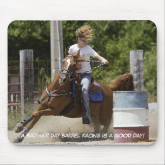 Barrel Racing - Bad hair day Mouse Pad