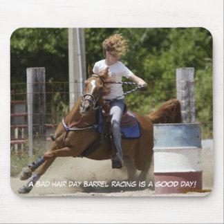 Barrel Racing - Bad hair day Mouse Pad