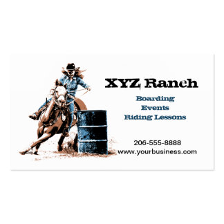 Barrel Racing Business Card